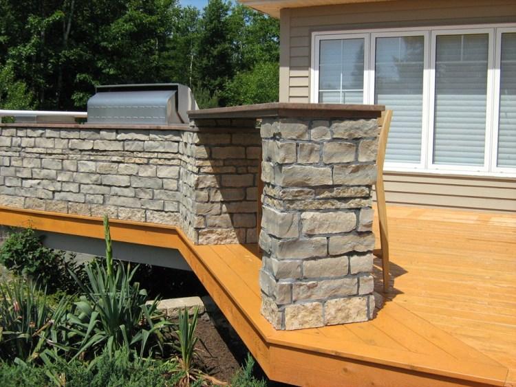 Harvest Gold Limestone Outdoor Kitchen