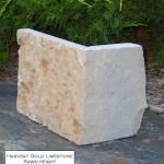 harvest gold limestone sawn height veneer corner