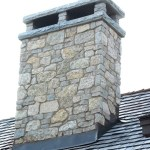 harvest gold limestone tumbled blend chimney top