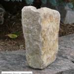 harvest gold limestone tumbled random veneer corner