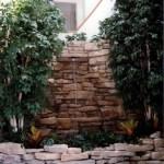 indoor limestone waterfall