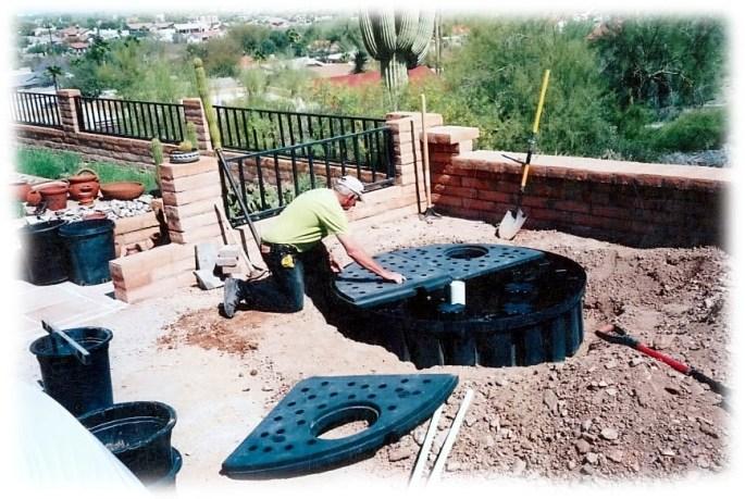 installing bubbling boulder basin
