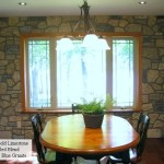 interior stone harvest gold limestone tumbled blend dining room
