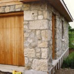 limestone garage front side