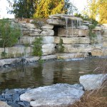 limestone waterfall detail
