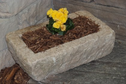 Granite Small Trough Planter