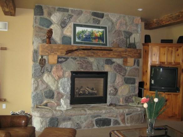split fieldstone random house fireplace