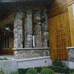 split fieldstone pillars