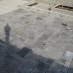 square cut flagstone charcoal limestone