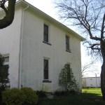 stucco house side before