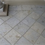 weatheredge limestone bush hammered square cut flagstone top view
