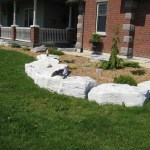 weatheredge limestone flowerbed edging armor stone