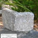weatheredge limestone tumbled splitface ledgerock veneer corner