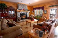 Log Home | Mimosa model | Living Room  Colonial Concepts ...