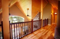 Log Home | View from Loft with Cathedral Ceiling ...
