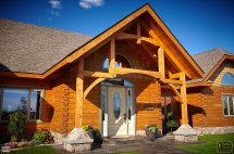 Log Home Sycamore Model With Custom Timberframe Entry
