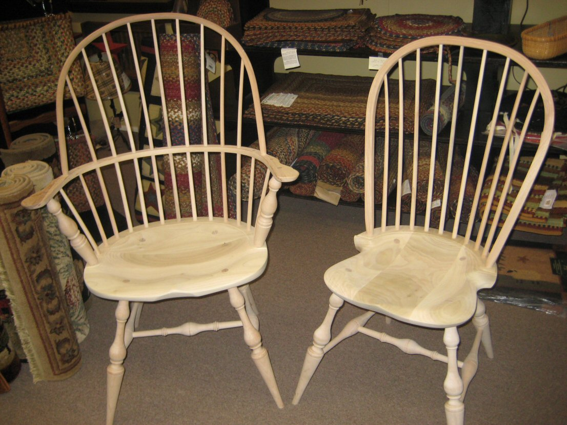 unfinished windsor chairs flexsteel rv captain chair seat covers amish side and arm colonial housecolonial