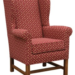 Colonial Wingback Sofas Plaid Library Wing Settle Housecolonial House