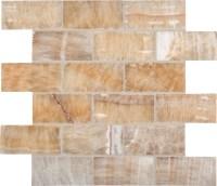Honey Onyx 2x4x8mm Subway Tile In 12x12 Mesh | Colonial ...