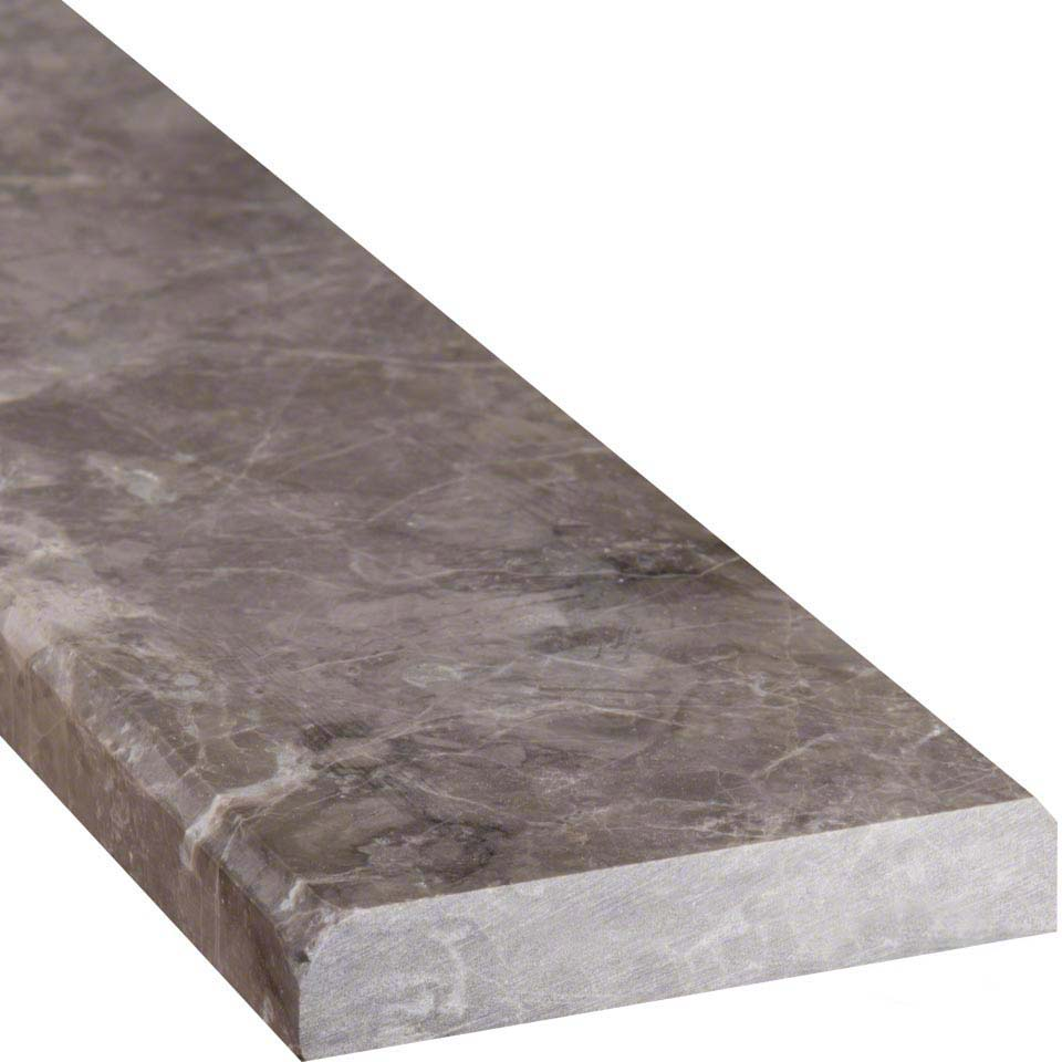 kohler kitchen sinks porcelain how to make cabinet doors from plywood tundra gray 4x36 double beveled threshold polished ...