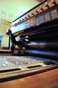 Visite à Grignan - Presse à cylindre