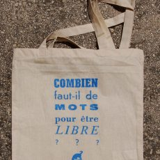 Tote Bag Bleu citation Colophon