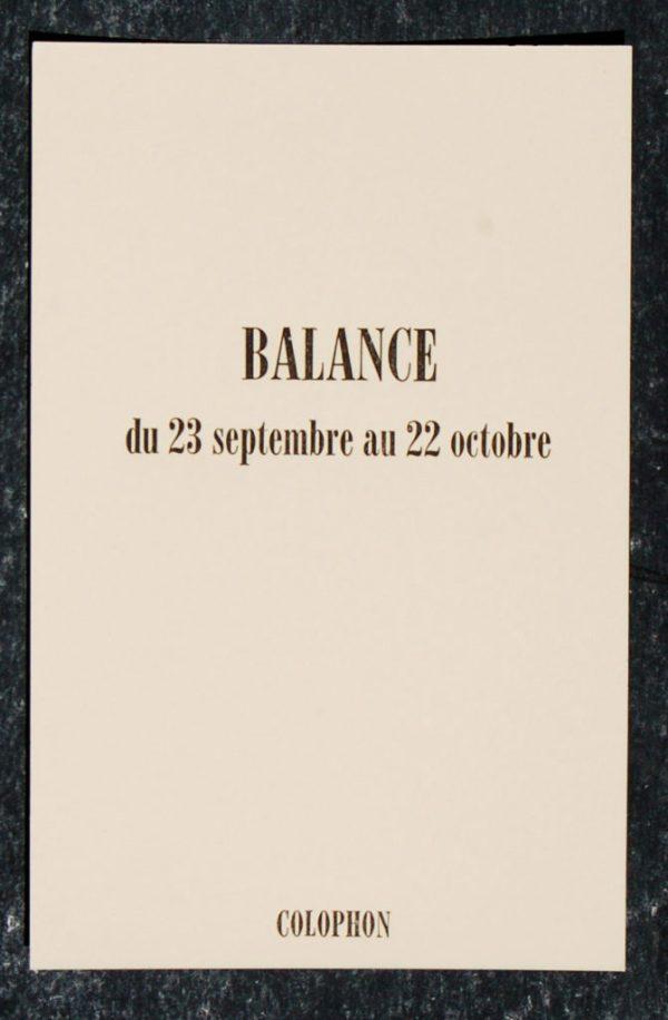 balance signe astrologique zodiaque verso