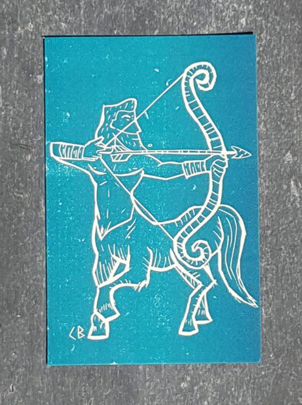 sagittaire signe astrologique zodiaque recto