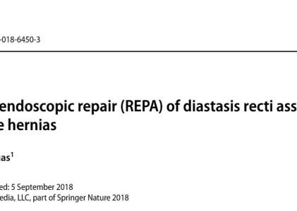 Diastasi dei retti: la REPA su Surgical Endoscopy