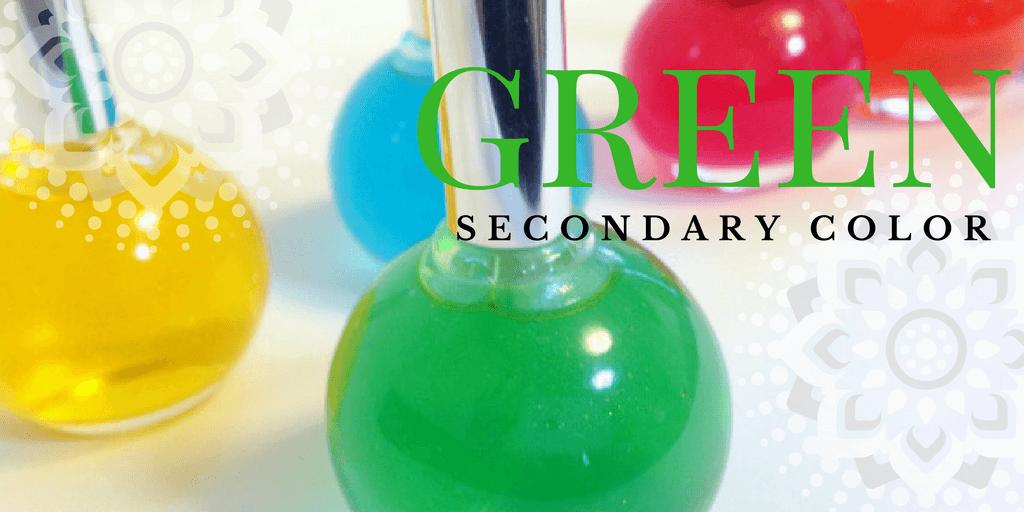 色相環(カラーサークル)の緑色・二次色のグリーン