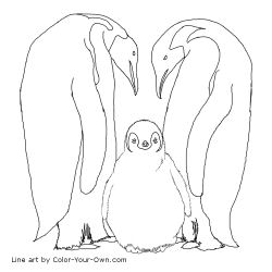 New Coloring Pages Emperor Penguins Coloring Page