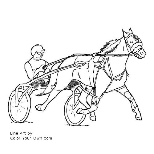Free sulky racing coloring pages