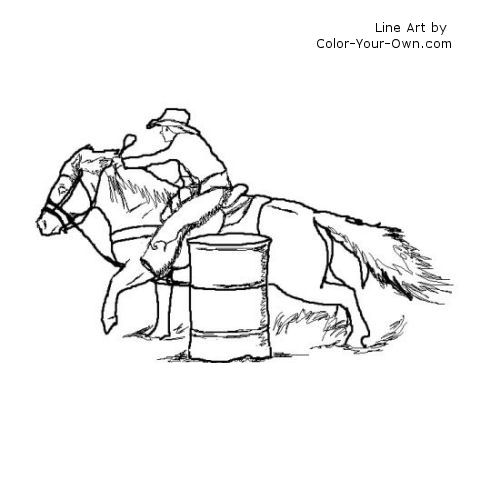 Free coloring pages of horses racing