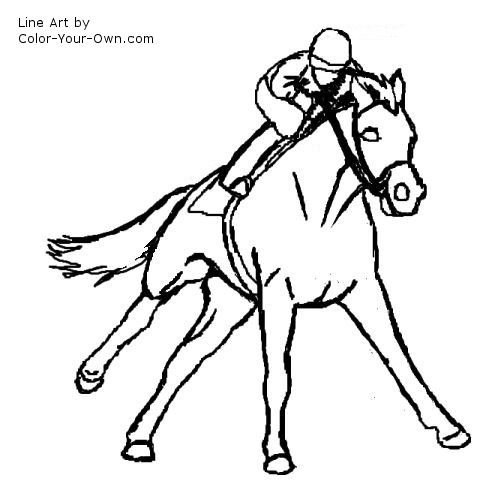 thoroughbred coloring pages - photo#38