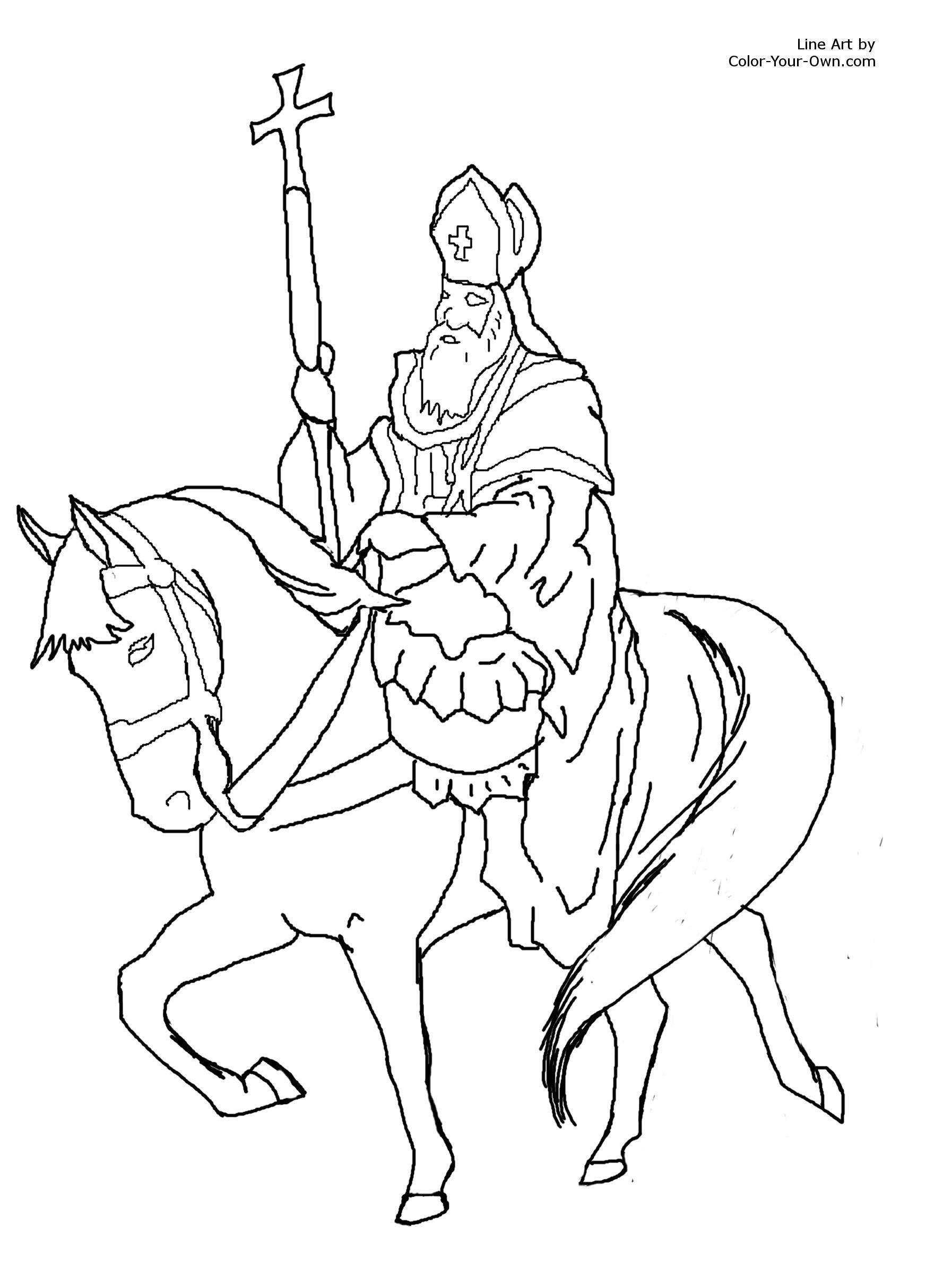 Saint Nicholas Christmas Coloring Page