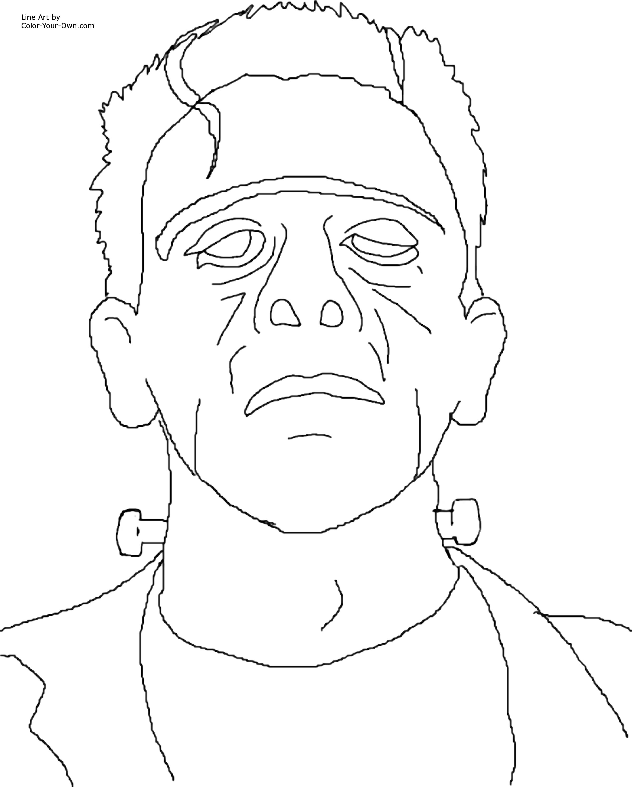 Frankenstein Coloring Pages Coloring Pages