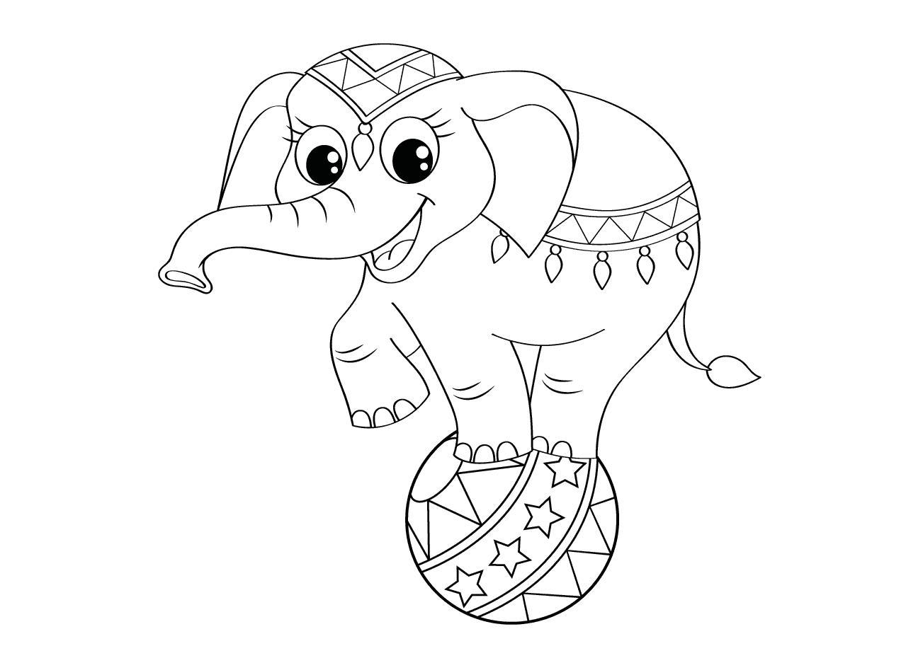 kleurplaat olifant kleurplaat