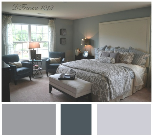 silver blue gray bedroom paint colors Loving Lennar's Models in Lawson | Decorating by Donna