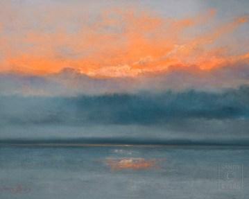 Waking Up pastel painting