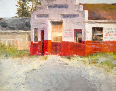 Drive-in Service $875 (11x14 oil on panel). still working.