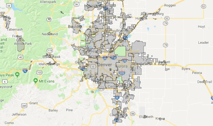 Denver Metro Map City Boundaries.Boulder Assault Weapon Ban Sends Colorado Into Uncharted Territory