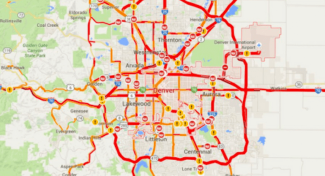 Notice That Denver Traffic Has Been This Week? You're Not The ... on