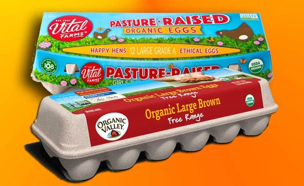 Organic Valley vs  Vital Farms Eggs | ColoradoBoulevard net