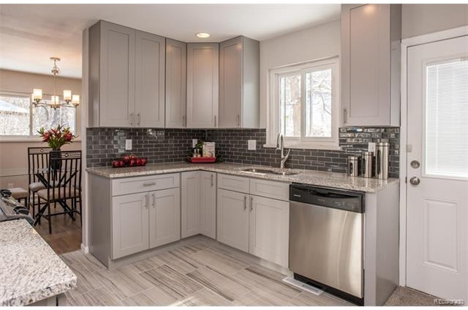 Grey Shaker Cabinet Gallery  Custom Kitchen Cabinets