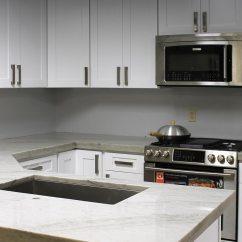 White Shaker Kitchen Cabinets Mixer Home Custom Semi Stone