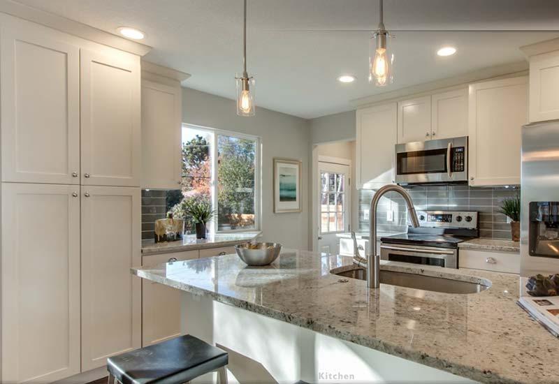 Cream Shaker Kitchen Cabinets  Custom Cabinetry in Denver