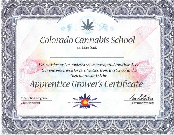 Apprentice Grower's Certificate