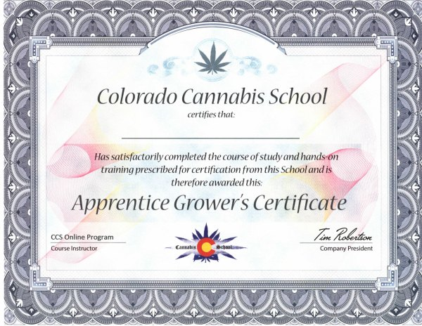Apprentice Grower's Certificate