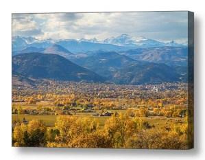 Boulder Colorado Autumn Scenic View Canvas Wall Art