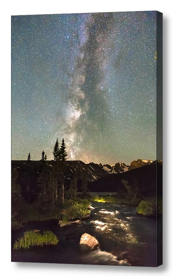 Rocky-Mountain-Milky-Way-Night-Portrait-Canvas-Art
